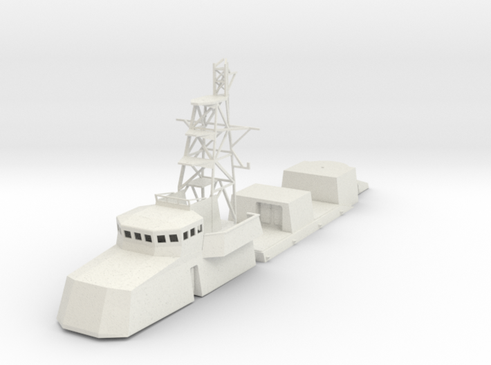 1/96 scale Cyclone Class Coastal Patrol Structure 3d printed