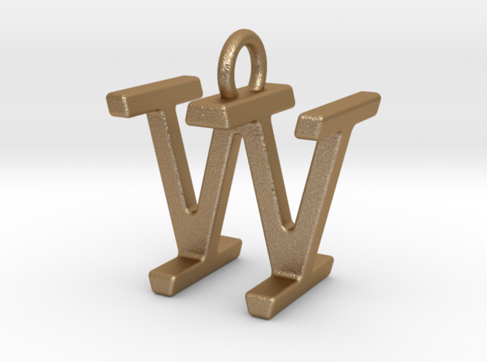 Two way letter pendant - IW WI 3d printed
