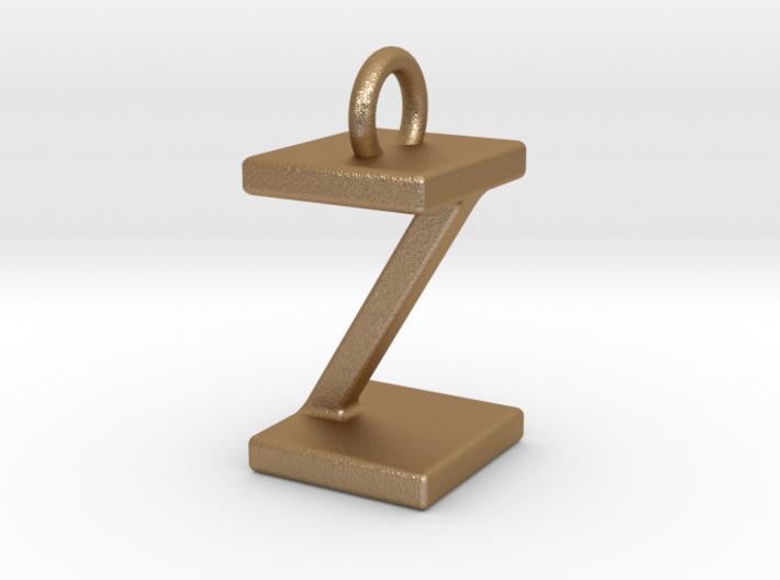 Two way letter pendant - IZ ZI 3d printed