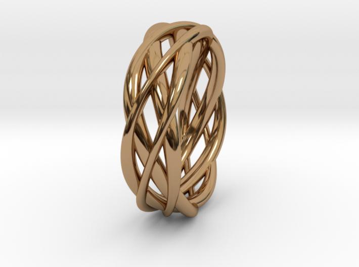 Mobius ring braid 3d printed
