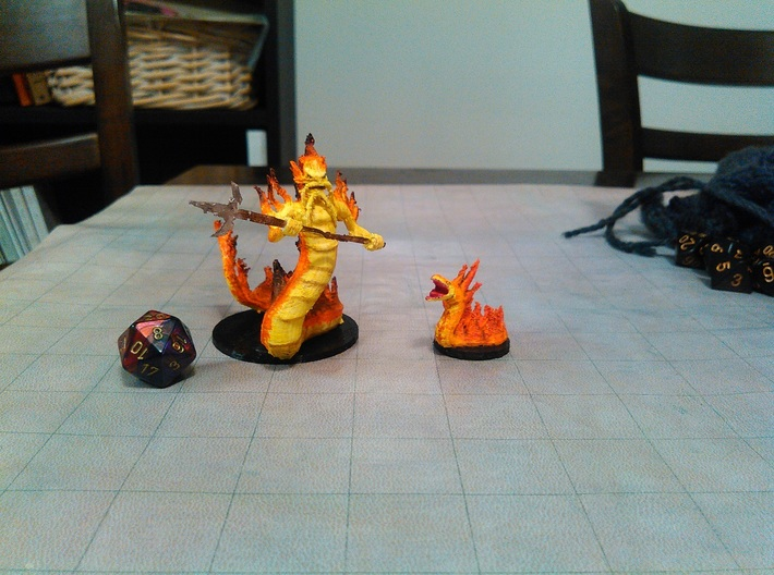 Fire Snake 3d printed