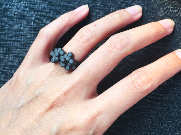 Basalt Ring 3d printed