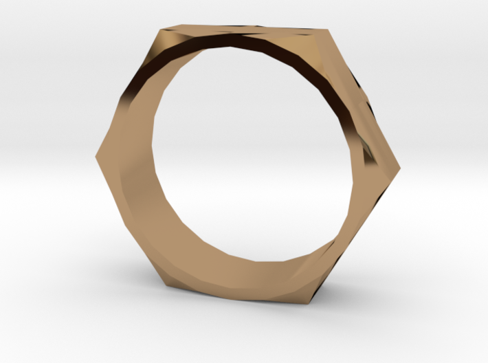 Bolt Ring (Size 13) 3d printed