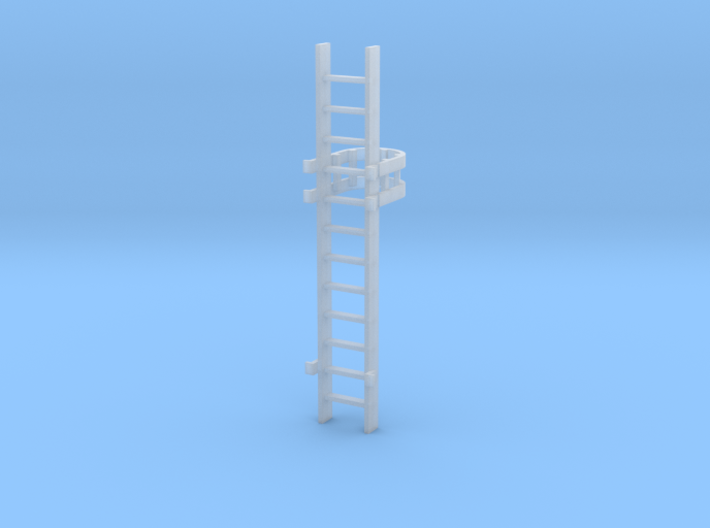 'S Scale' - 10 Ft. Caged Ladder 3d printed