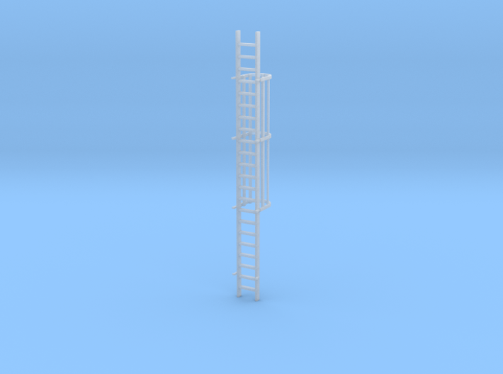 'S Scale' - 20 Ft. Caged Ladder 3d printed