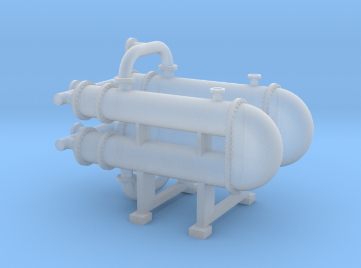 N Scale Heat Exchanger #3 Double 3d printed