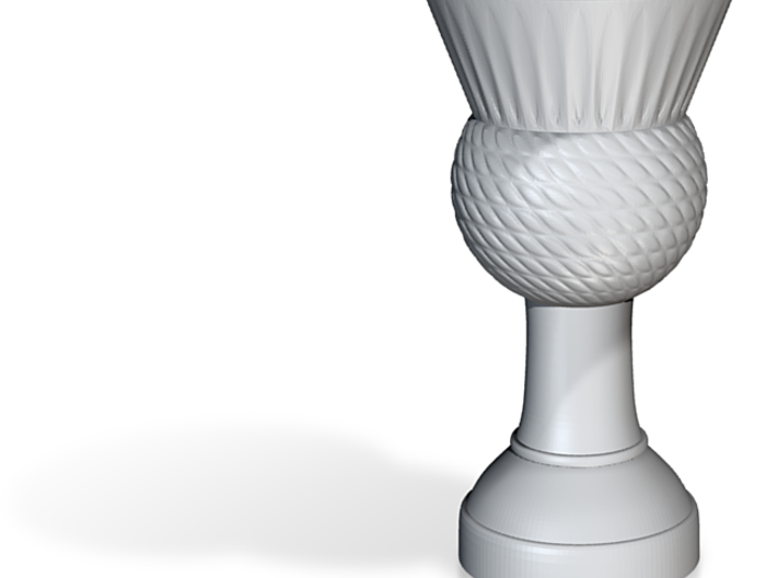 Thistle flag pole finial (steel) 3d printed