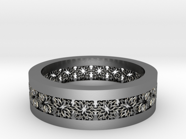 Lace Wedding Band 3d printed