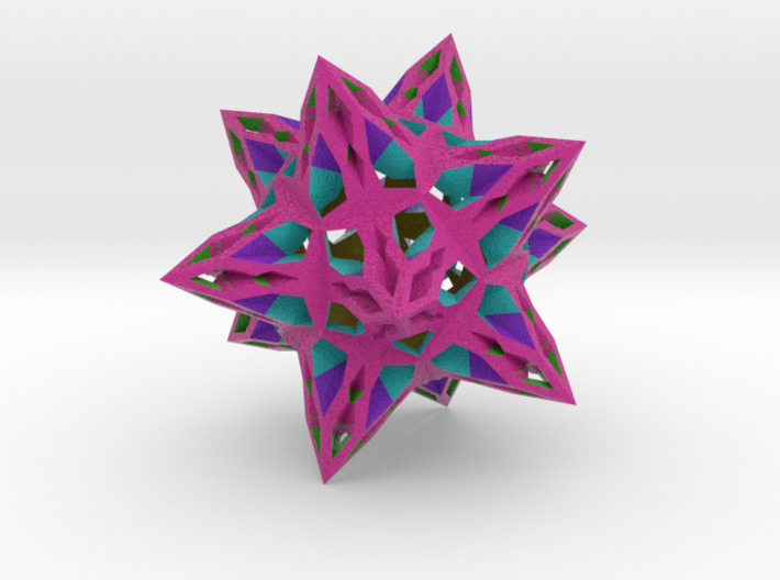 complex stellate icosahedron benign transposition 3d printed