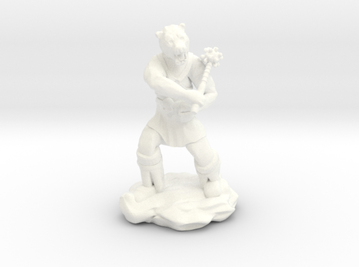 Werebear With Mace 3d printed
