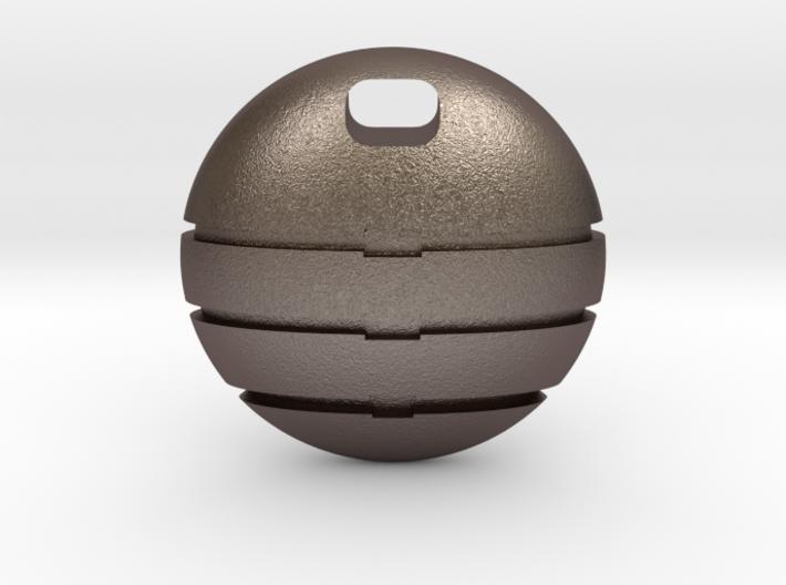 Circular enigmatic pendant 3d printed
