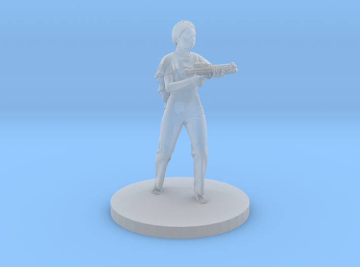 Irene with Blaster 3d printed