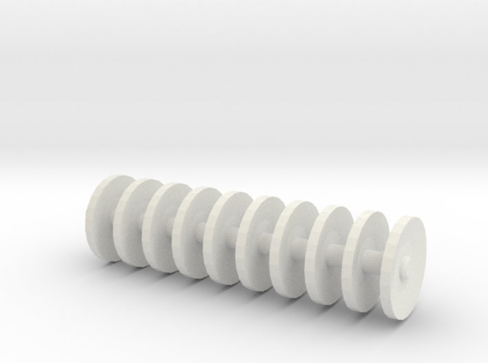 1/64 scale disc gang 1 inch long 3d printed