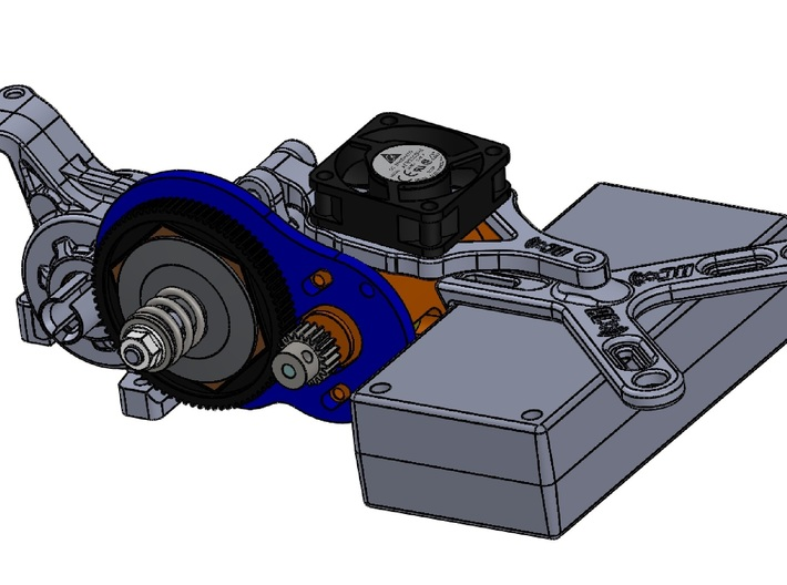 LCG 3 gear Left side gearbox for Associated B5M 3d printed