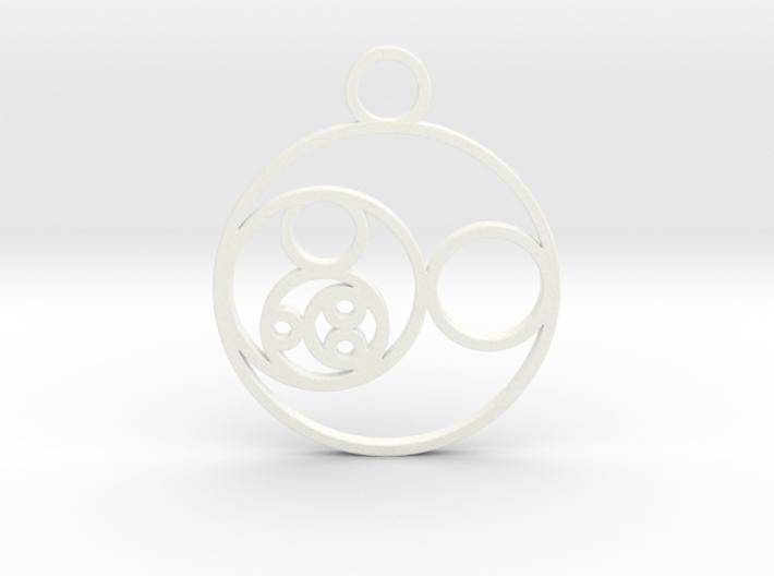 Fibonacci Round Pendant 3d printed