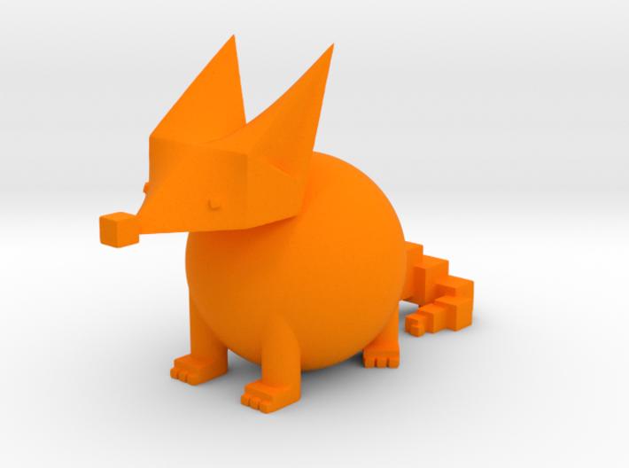 PRIMITIVE SHAPES FOX SCULPTURE 3-IN 3d printed