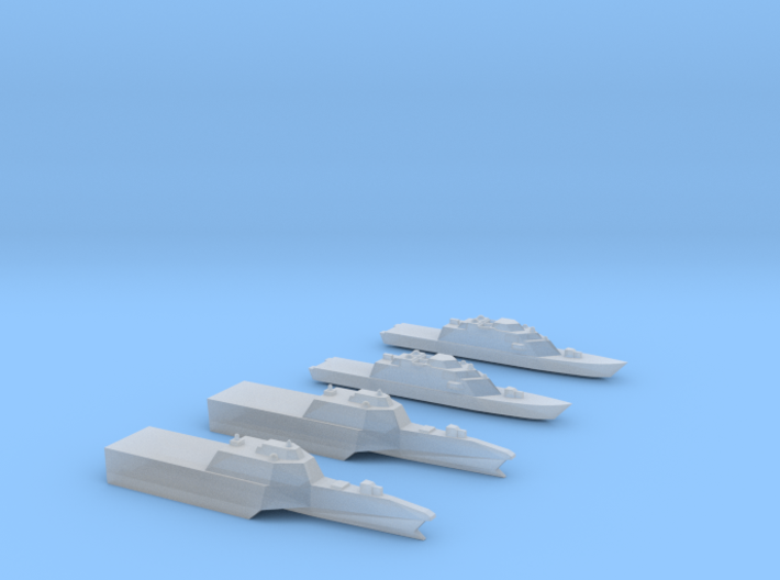 1:3000 Littoral Combat Ships Freedom+Independence 3d printed
