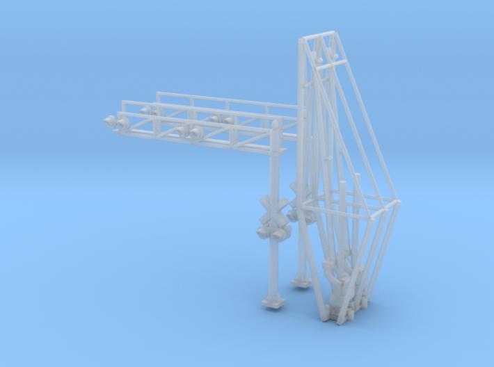 N Scale Crossing Gates 2 Lanes 2x2 3d printed