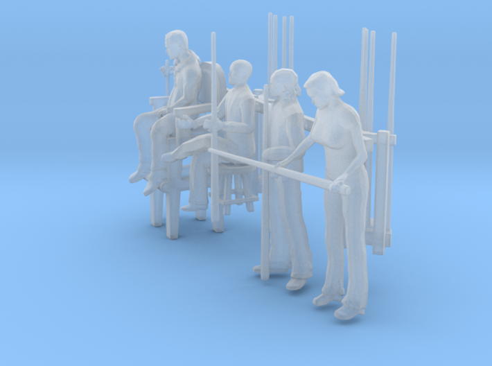 Pool Players 'O' Scale 3d printed