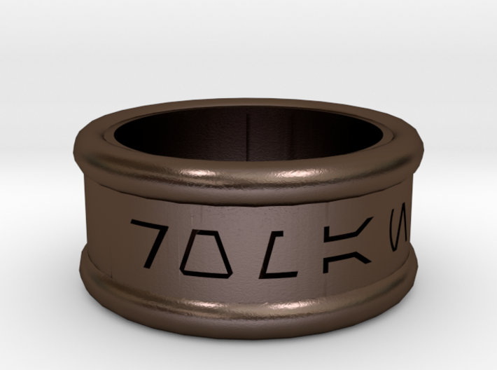 Imperial Alphabet Ring 3d printed