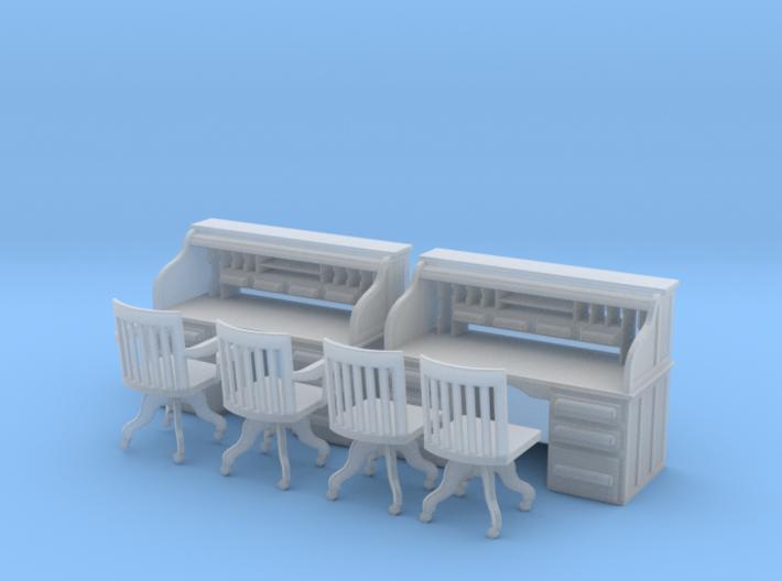 2 Rolltop Desks O Scale 3d printed