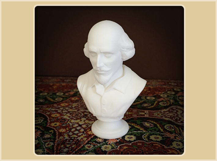 Shakespeare Bust 3d printed