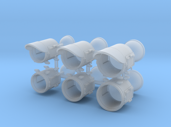 Pyle Headlights 3 Sizes - HO scale 3d printed