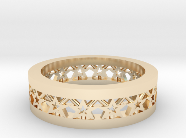 AB061 Star Band 3d printed