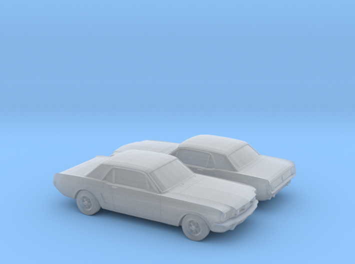 1/160 2X 1964 Ford Mustang GT 3d printed