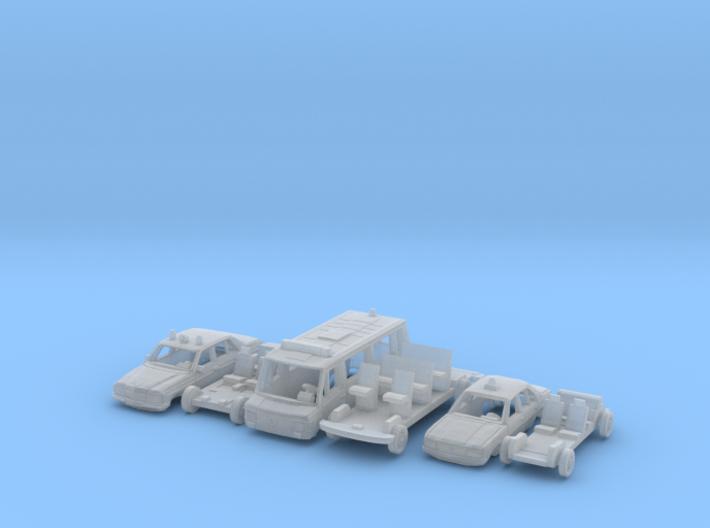 SET 3x Polizeifahrzeuge (TT 1:120) 3d printed