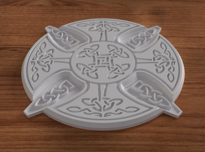 Celtic Design Coaster 3d printed A rendered image  of the coaster