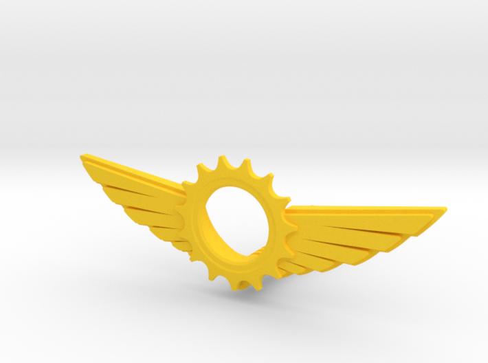 Wings & gear 3d printed