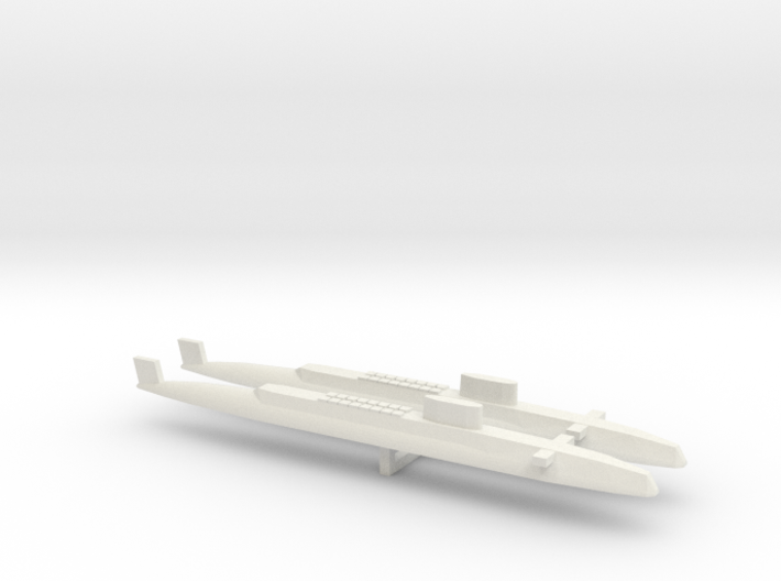 HMS Resolution SSBN x 2, 1/2400 3d printed