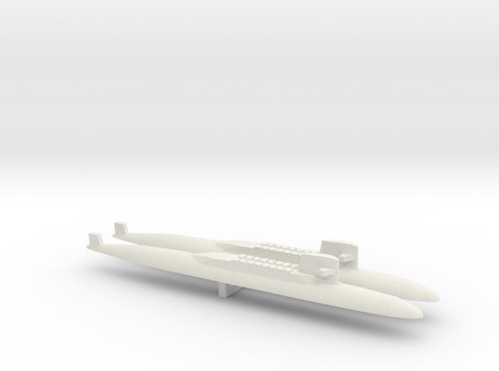 USS George Washington SSBN x 2, 1/1800 3d printed