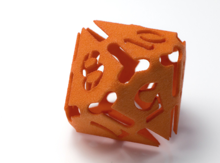 Big die 10 / d10 28mm / dice set 3d printed ooooorange!