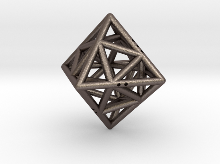 Octahedon with Icosahedron inside 3d printed