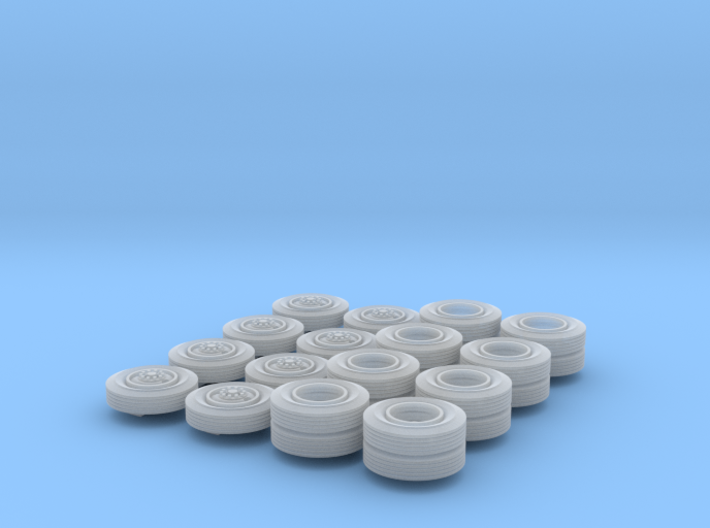 Two-Hole Bud-Style Truck Wheels 3d printed