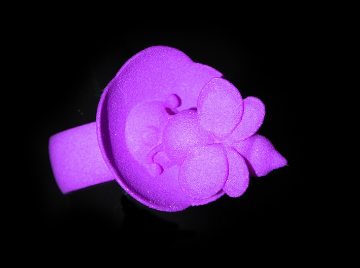 The Bee & The Flower - Ring - Size56 - diam 17,8mm 3d printed