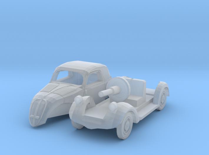 Fiat 500A Topolino (TT 1:120) 3d printed