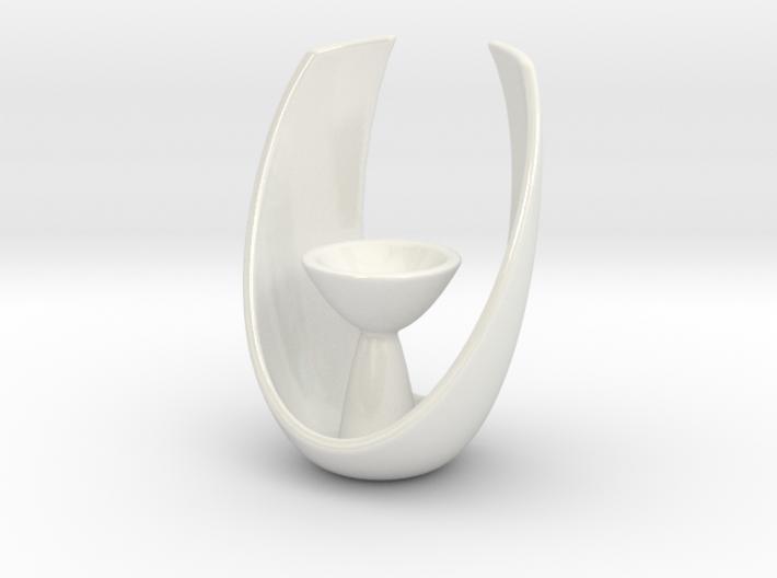 Modern Oval Tealight Holder 3d printed