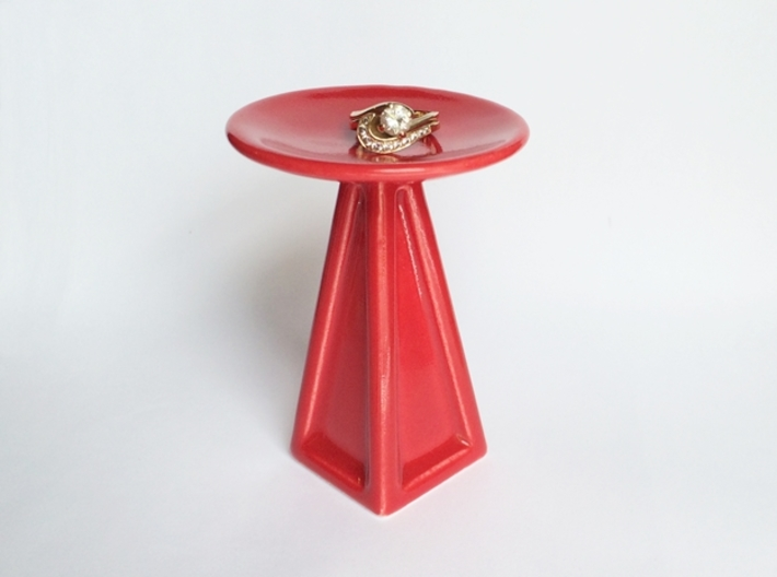 Porcelain Jewelry Pedestal - for 3d printed rings! 3d printed