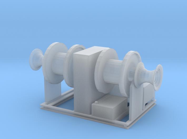 1/96 hydraulic deck winch, twin drum 3d printed