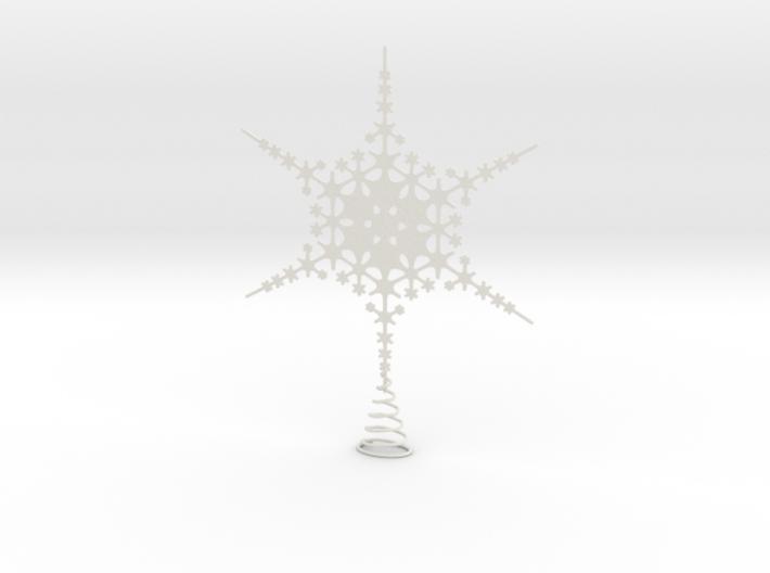 Sparkle Snow Star - Fractal Tree Top - HP1 - L 3d printed