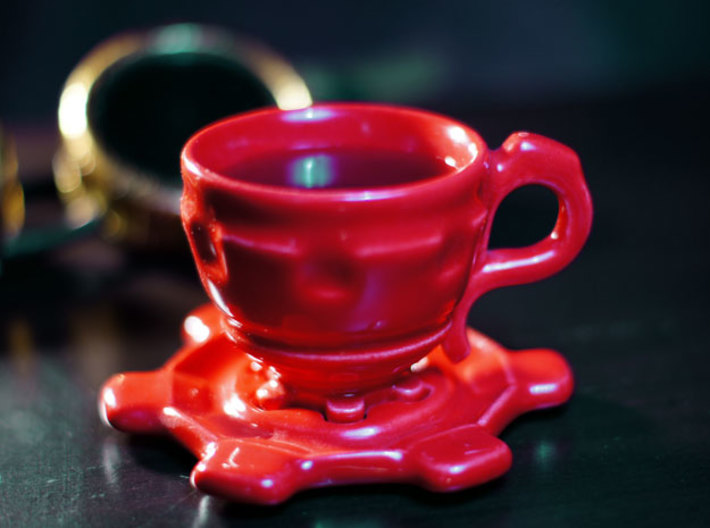 Steampunk Cup  and Saucer 3d printed