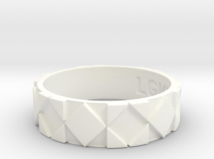 Futuristic Rhombus Ring Size 13 3d printed