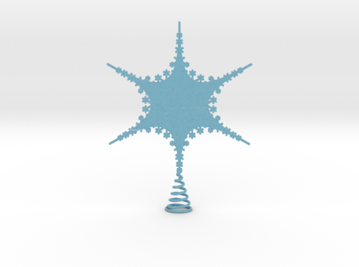 Large Sparkle Snow Star - Tree Top Fractal - L 3d printed