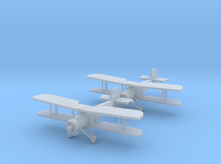 "1:200 Fairey Swordfish ""Wingman w/Torps"" 3d printed"