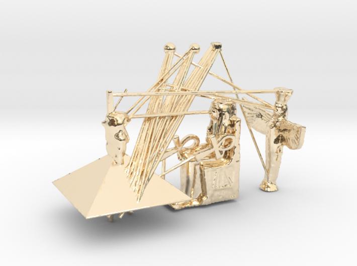 Egypt Hiroglyph 3D Model 3d printed