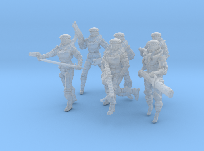 Soldier Squad Full, 28-32mm Scale 3d printed