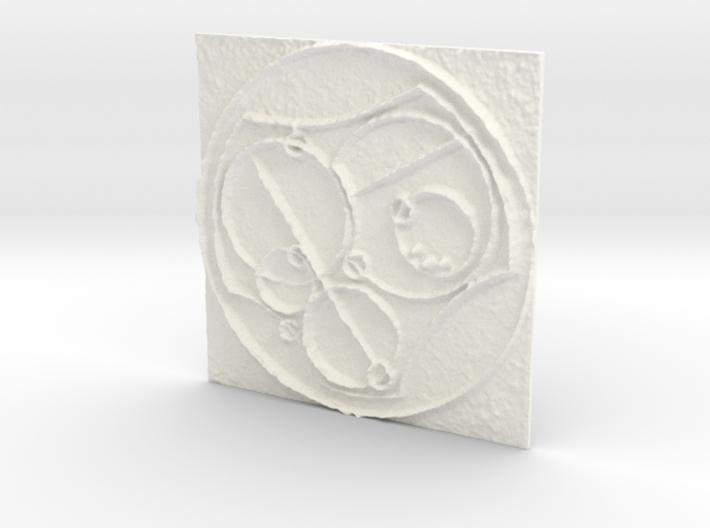 Gallifreyan 3d printed